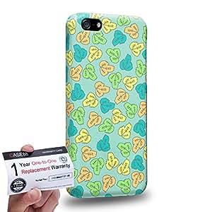 Case88 [Apple iPhone 5C] 3D impresa Carcasa/Funda dura para & Tarjeta de garantía - Art Fashion Leaf Trend Green Background