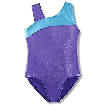 Leotard for Girls Toddler Gymnastics Ballet Single Strap Shiny Purple 2t 3t