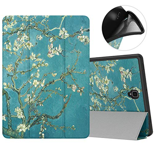 g Galaxy Tab S4 10.5 with S Pen Holder, Soft TPU Ultra Slim Trifold Stand Cover with Auto Wake/Sleep for Galaxy Tab S4 10.5 Inch 2018 (SM-T830/T835/T837) Tablet - Almond Blossom ()