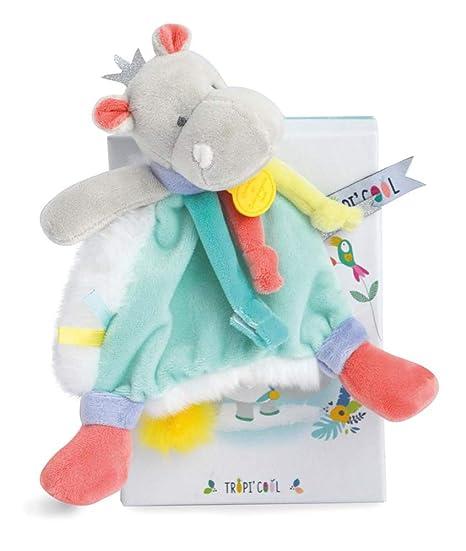 Doudou et Compagnie dc3301 Hippo – Chupete Clip, azul