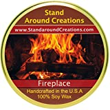 Premium 100% Soy Tureen Candle - 11 oz. - Fireplace: A woodsy, earthy aroma. True to it's name.