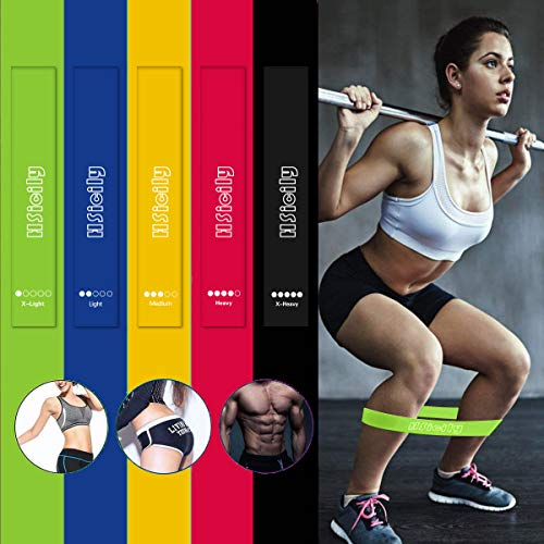 HSicily Resistance Bands for Legs and Butt, Glutes Exercise Bands Set Booty Fitness Belts Hip Workout Bands Anti Slip Elastic for Squat, Thighs Training, Yoga, Strength