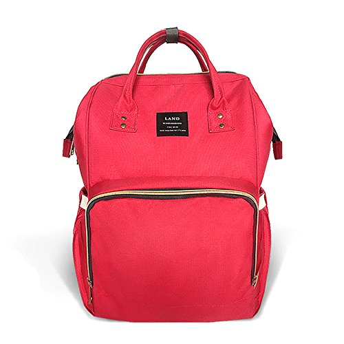 Waterproof Diaper Bag Red - 1