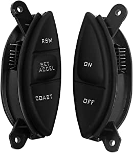 BASIKER Steering Wheel Cruise Control Switch Button For Ford Explorer & Ford Ranger Mercury Mazda Perfect Replacement OEM SW-5928 F87Z9C888BB F87A9D809BA | Black 1998-2005