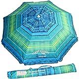 Tommy Bahama Sand Anchor Beach Umbrella FPS100+ (Green/Blue)