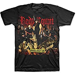 Body Count (Ice T) Manslaughter Tour Men's T-Shirt + Koozie (3XL)