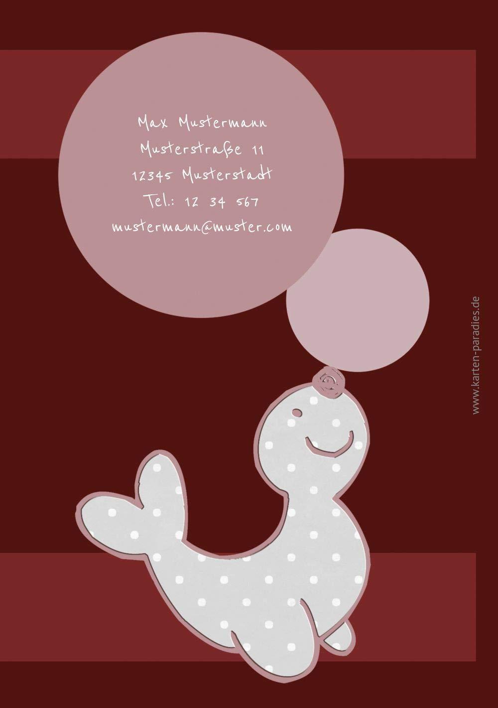Geburtstagseinladung Foto Robbe, 10 Karten, Karten, Karten, Türkisdunkel B07KZRMNC6   Spaß    Spielen Sie das Beste    Online Shop  65ca4e