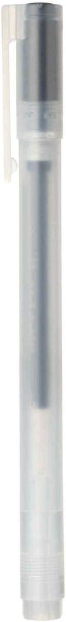 MUJI - Gel Ink Ballpoint Pen Cap Type 0.38mm Black (10 pieces): Office Products