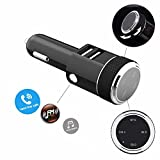 Tekury Bluetooth FM Transmitter, Wireless In-Car FM Transmitter Radio Adapter Car Kit, Universal Car Charger with Dual USB Charging Ports, Hands Free Calling for iPhone, Samsung, etc