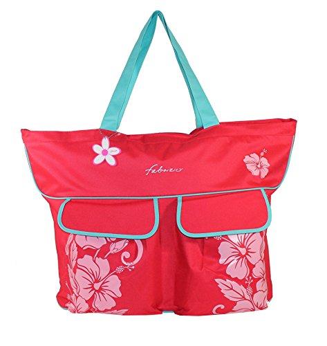Fabrizio XXL-Strandtasche extragroß rot