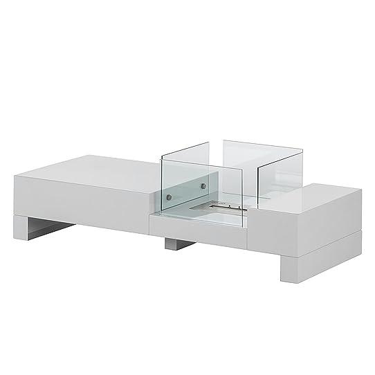Table Basse Design Avec Cheminée Bioéthanol Intégrée: Amazon.Fr