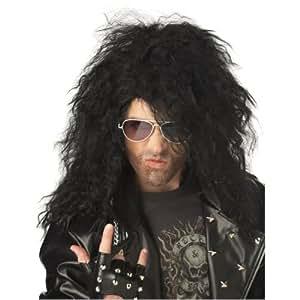 California Costumes 179052 Heavy Metal Rocker Black Adult Wig (peluca)