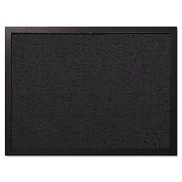 MasterVision Designer Fabric Bulletin Board, 24X18, Black Fabric/Black Frame, Sold as 1 Each