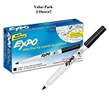 Expo Ultra Fine Point Dry Erase Markers - Ultra Fine Marker Point Type - 2 Boxes (24 Markers Total)
