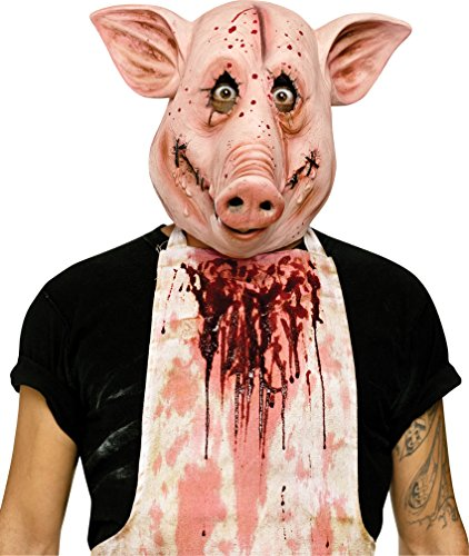 Psycho Pig Adult Mask (Pig Halloween Mask)