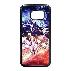 Samsung Galaxy S6 Edge Cover , Sword Art Online SAO Kirito & Asuna Cell phone case Black for Samsung Galaxy S6 Edge - KS888-123716