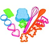 Kids Children 16 Piece Baking Cake Mould Cookie Cutter Spatula Whisk Spoon Set (Set with Blue Teddy Nould) by We Can Cook