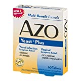 Azo Yeast Tablets, 60 ct