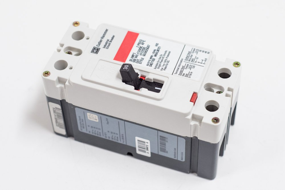 HFD2020 - Thermal Magnetic Circuit Breaker, F-Frame, HFD Series, 600 VAC, 250 VDC, 20 A, 2 Pole by Eaton