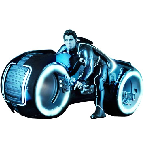 TRON Legacy Sideshow Collectibles Sam Flynn w/ Lightcycle LED
