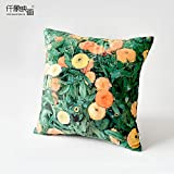 HOMEE Art Pillow Sofa Cushion Continental Creative Arts Pillow Pillow ,55X55Cm Furniture, Mr Ronald Qar,Kim received flower,46X46cm