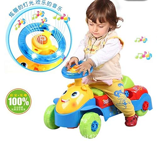 XuBa 2017 Baby Walker Rid On Toys Car Features U Type of Hand Push and Slide with Music Can Speed Mountable Carts Toys for Children