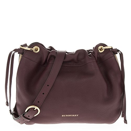 Burberry Women's Grainy Leather and House Check Crossbody Bag (Grainy Leather)