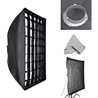 Fomito 80 X 120cm / 31.5 X 47.24 Studio Lighting Photo Softbox Bowens Mount with Honeycomb Grid For Light Flash,for Godox,for Jinbei,for Neewer Strobe/Flash Light and Other Studio Flash Light