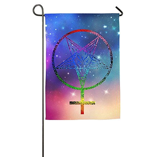 Feminist Satanic Pentagram Seasonal Garden Flags For Outdoors One-Sided Garden Flag For Thanksgiving Day,halloween,Christmas (Is Halloween Satanic)