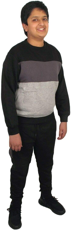 Stylozuk Boys Tracksuit Kids Gym Sports Fitness Jogger Running Sweatshirt Sweatpants Set Top Pant Jogging Bottoms