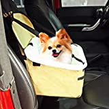 YUNDA Pet Dog Booster Seat for Cars with Seat Safety Belt Tether Folding Travel Car Seat