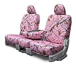 Custom Seat Covers for Dodge Mega-Cab Front Low Back Seats - Snowfall Pink Camo