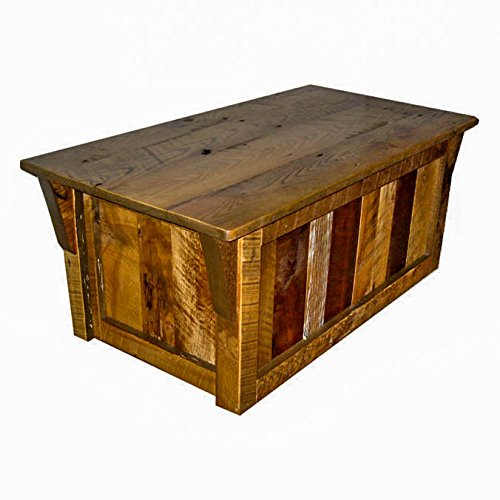 Amish Blanket Chest - Rustic Natural Reclaimed Barn Wood Blanket Chest - Amish Made in USA (Urban Distress Stain)