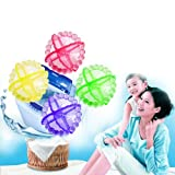 HuntGold New 4PCs Reusable Wash Machine Washing Laundry Ball Fabric Soft Physical Cleaner(random color)