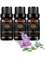 Aromatherapy Ylang Ylang Essential Oil Set for Diffuser, 3X10ml 100% Pure Chamomile Essential Oil Kit for Humidifier-Chamomile, Ylang Ylang, Lavender Essential Oil Set, Aromatherapy Lavender Oils Kit