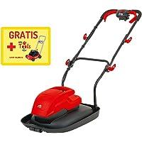 Grizzly Tondeuse à coussin d'air mulching électrique ERM 160034L, 1600W, 34cm Largeur de coupe, 4Hauteur de coupe + Tondeuse à Gazon Enfant gratuit.