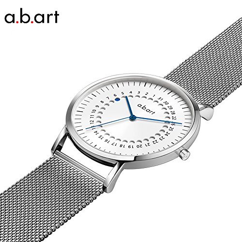 a.b.art FD36-101-6S Women's Fashion Wrist Watch Date Display Watch Silver tone (Mesh bracelet steel-Steel) by a.b.art (Image #1)