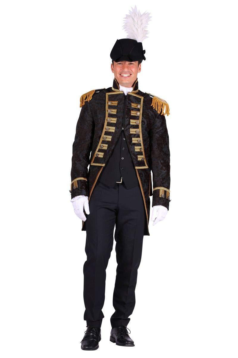 Thetru Herren Kostüm Jacke Garde Uniform Admiral schwarz Karneval Gr.L B07MR222YV Kostüme für Erwachsene Zart      Stil