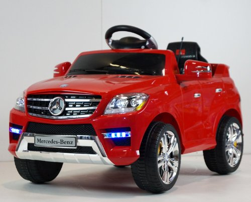 amazoncom original battery operated ride on mercedes benz ml350 remote control ride on toy licensed car for kids with key and lights toys games