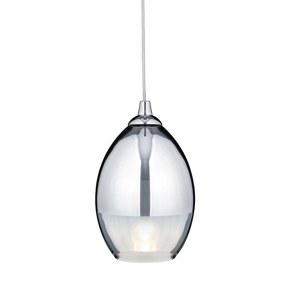 searchlight chrome and glass finish single ceiling pendant light ccamazoncouk lighting. searchlight chrome and glass finish single ceiling pendant light