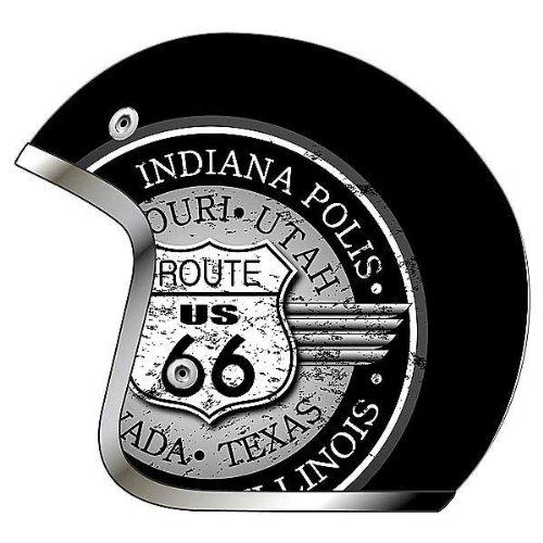 AFX FX-76 Route 66 Open Face Helmet Black XXXXL/XXXX-Large