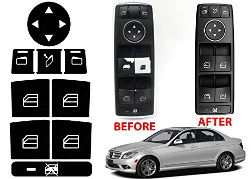 Window Switch Button Repair Stickers For 2008-2014 Mercedes Benz W204 C300 (Window Button)