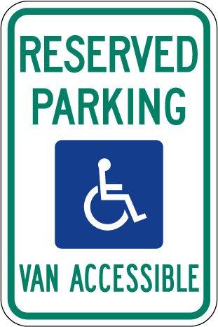"UPC 712145392109, Michigan - Handicapped Parking Sign 12""x18"""