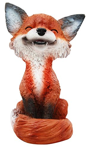 Fox Animal Figurine - Sinister Pets Collector Item Grinning Sly Fox Decorative Figurine 4.25