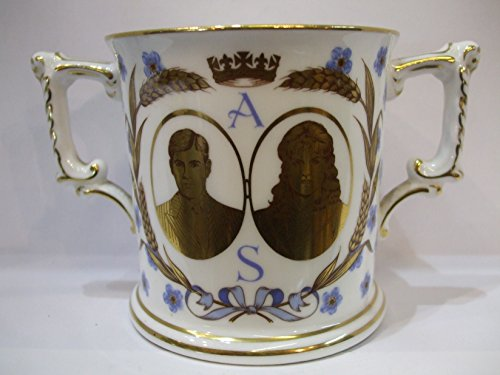 Royal Crown Derby English Bone China COMMEMORATIVE HRH Prince Andrew & Sarah Ferguson Wedding LOVING CUP