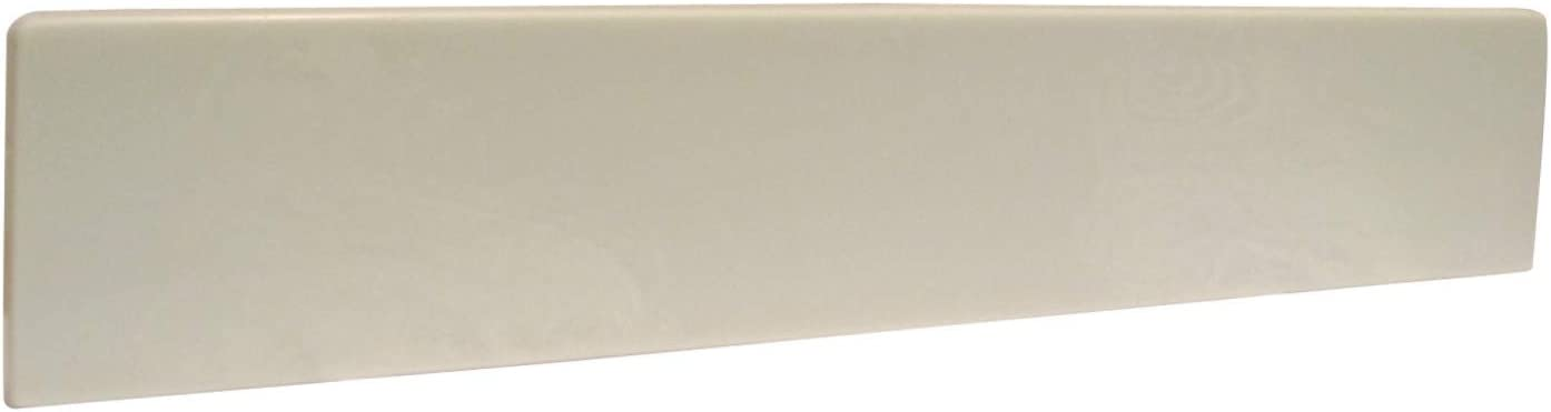 "Design House 550913 Vanity Top Cultured Marble Side Splash, 21.5"", White on White"