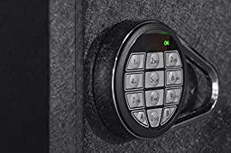 Ivation Electronic Home and Office Safe with Keypad for Pin Code Access – Includes Emergency Override Keys, Black