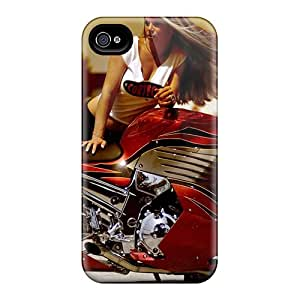 Protective Hard Cell-phone Cases For Apple Iphone 4/4s (Emz29553OLVM) Support Personal Customs Beautiful Sport Bike Series