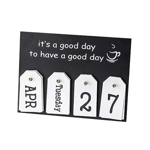 2019 Mini calendario de escritorio de papel para decoración de ...