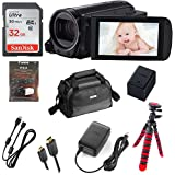 Canon VIXIA HF R700 Full HD Camcorder, CMOS Sensor, 57x Advanced Zoom, Fast & Slow Motion Recording + 32GB Storage + Spider Tripod + Case